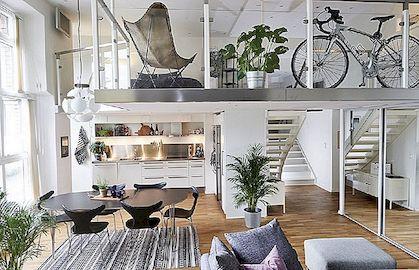 Hele Rootsi korter suurepäraste sisekujunduse elementidega
