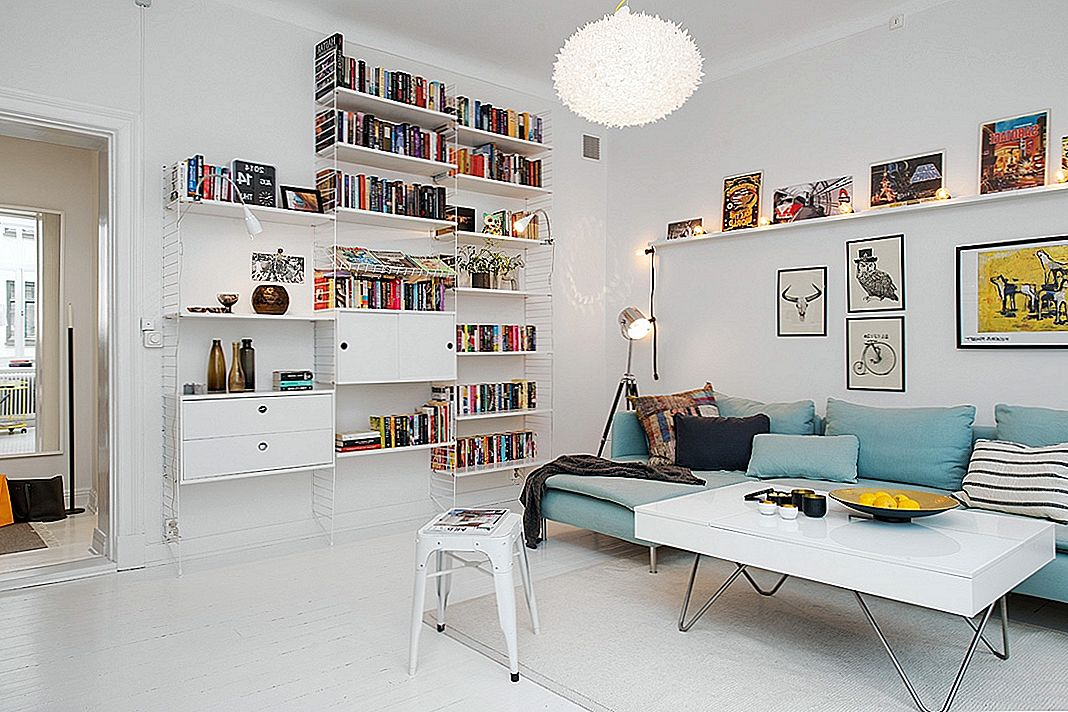 Captivating Two-Room Swedish Apartment Viser en svært effektiv layout