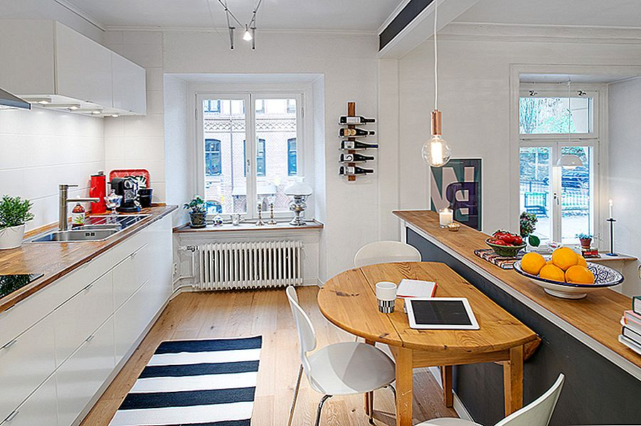 Charming Swedish Apartment, kuriame eksponuojamas originalus grindų planas