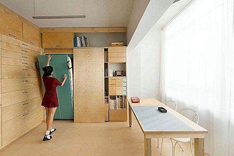 Inspirirajući 15 m2 modularnog umjetničkog studijskog ranga visokog u funkcionalnosti