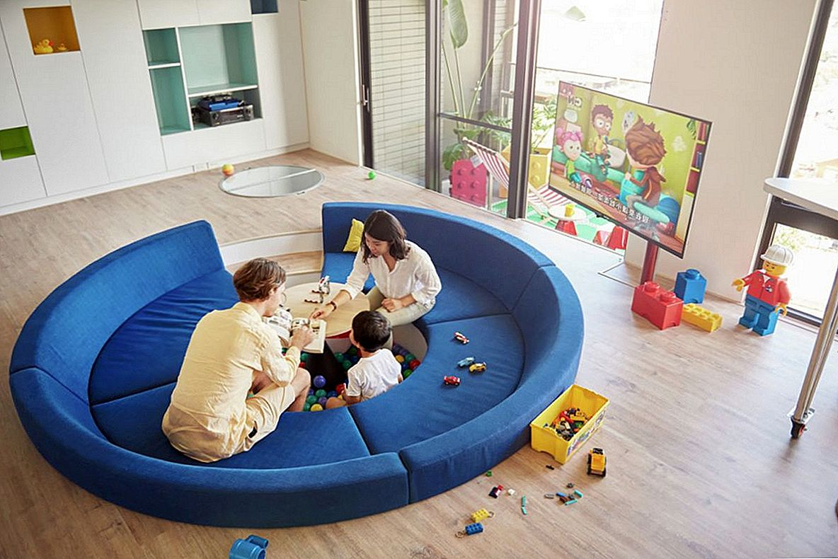 LEGO-Inspired Apartment mette un design Spin-Play