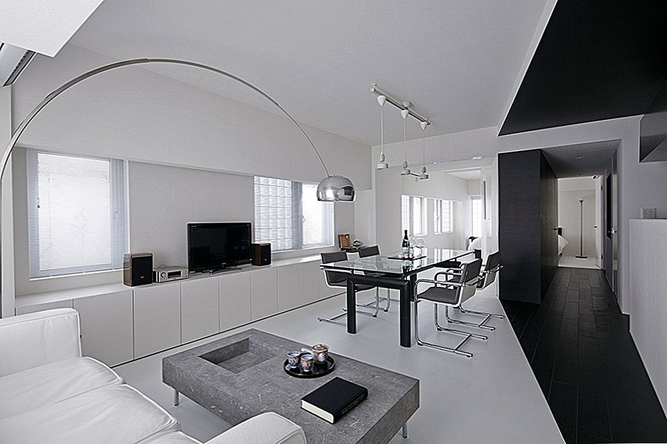 Modern Composition in Black & White: Room 407 Project in Tokio