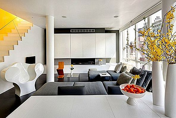 Moderne urban penthouse i Chelsea