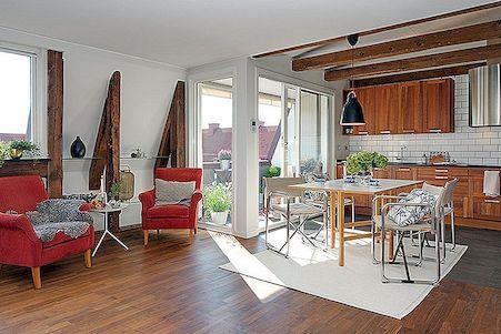 Zweeds appartement met een charmant rustiek beroep in Göteborg