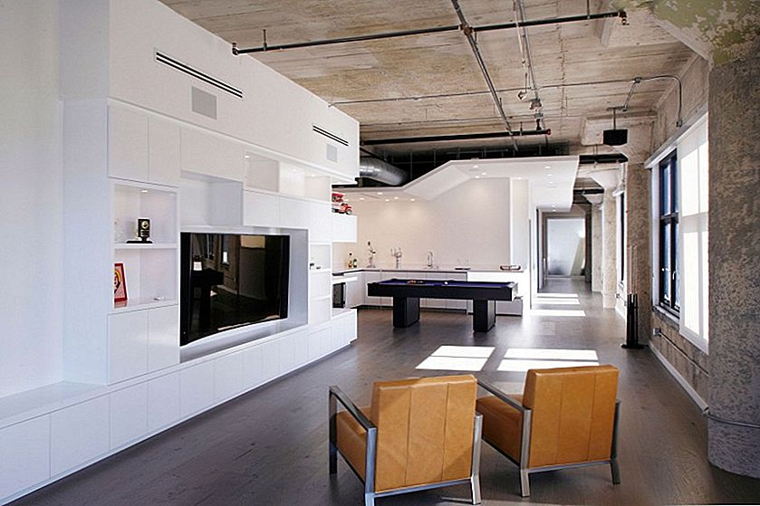 Twin Loft w L.A. Brings Modern Industrial Spaces Home