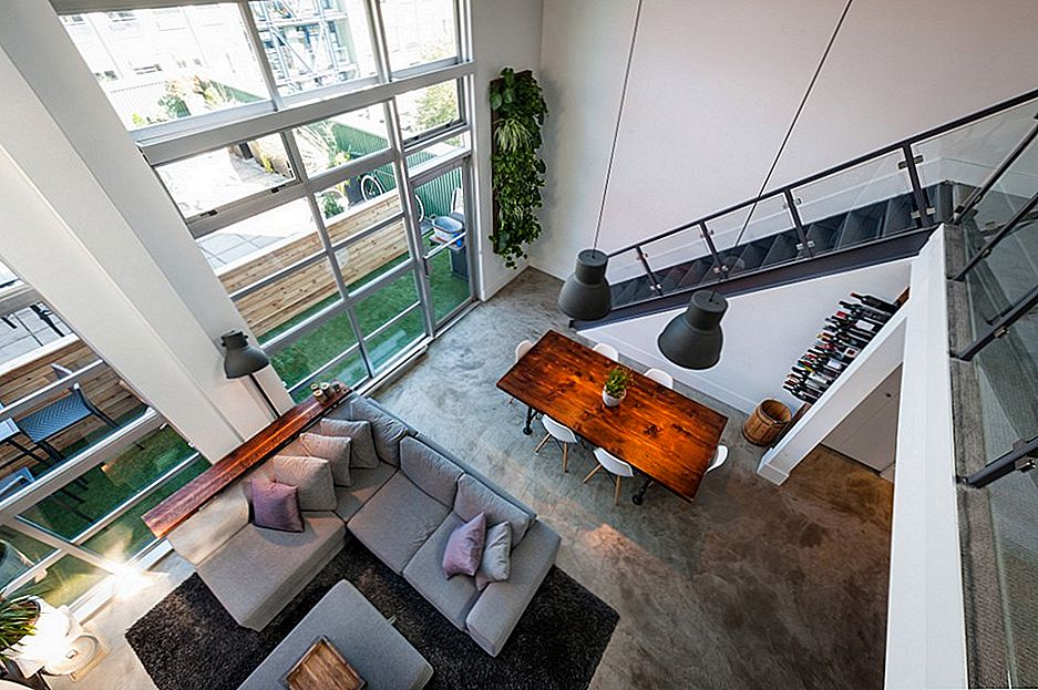 Loft moderno a doppia altezza moderno a Vancouver Creatively Designed by TheMACNABS