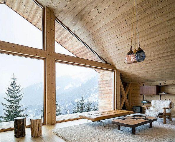 Alpine Mountain Home em forma de história e natureza