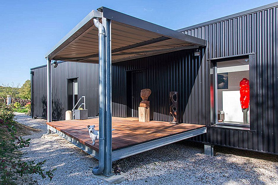 Kunstnerens Shipping Container Home In French Countryside