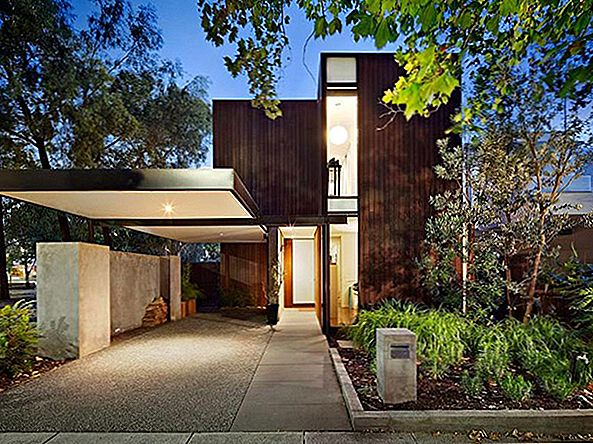 Splendida casa contemporanea a Melbourne con finiture naturali