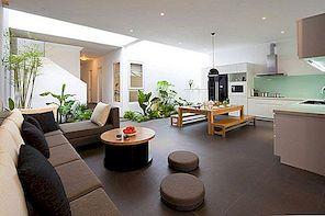Žalias, elegantiškas ir jaukus šeimos namai Vietname, kuriai vadovauja MM ++ architektai