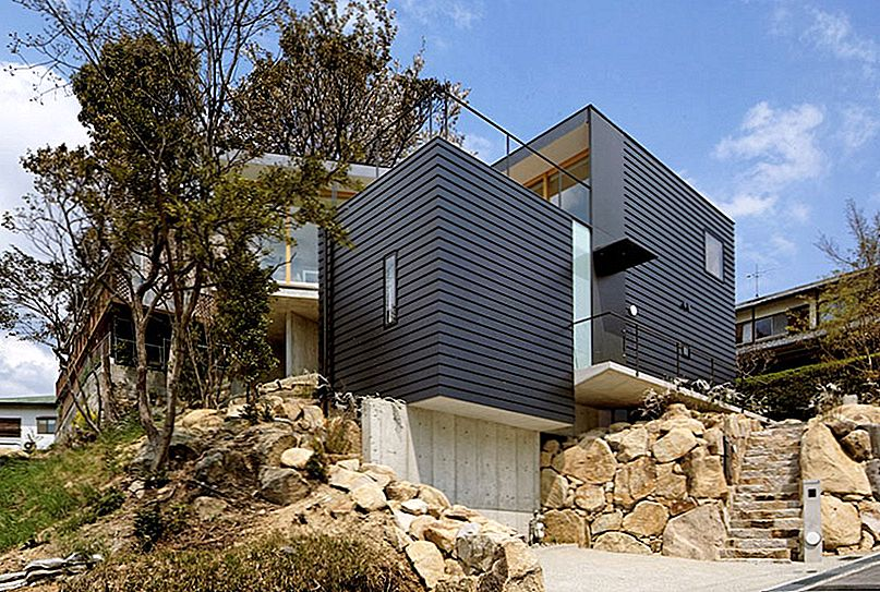 House grijpt het landschap in Japan door Shogo Aratani