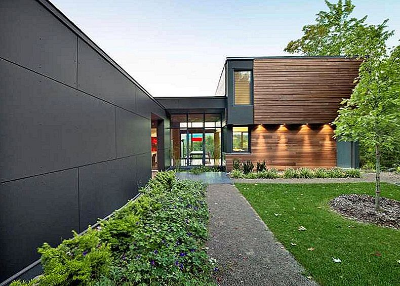 Etkileyici Modern Country Retreat, Quebec, Kanada: T House