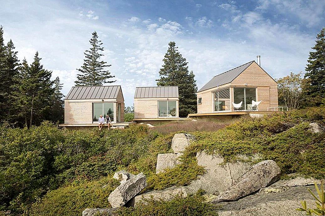 Minimalistisch Guesthouse in Vinalhaven Hovers Above Former Quarry