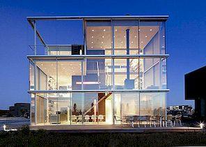 Modernt familjehem i utkanten av Amsterdam: Rieteiland Hus