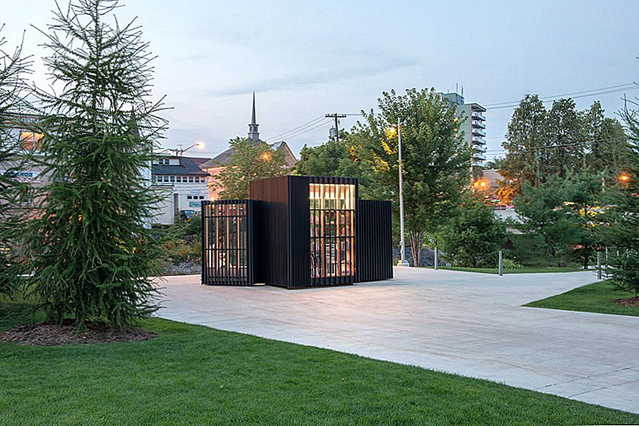 Modern Tiny Library Glows in Canada
