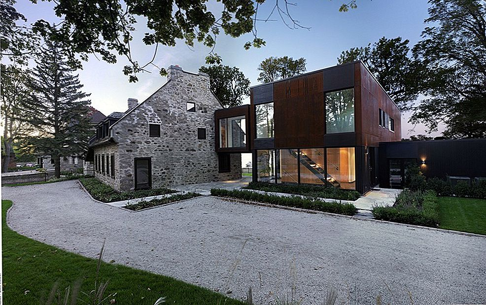 Old Home Meets Contemporary Architecture: Bord-du-Lac House i Kanada