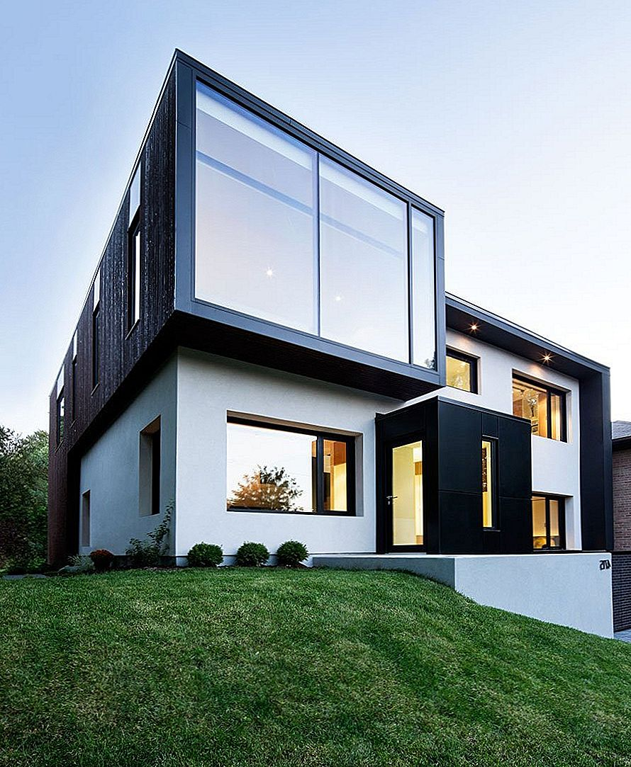 Playing With Volumes: Black and White Connaught Residence v Montrealu