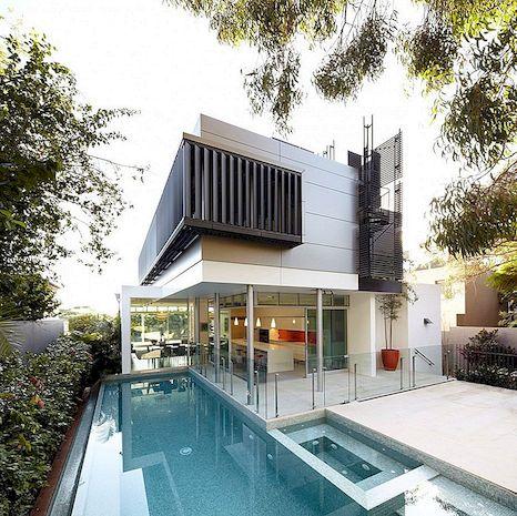극적인 건축물 구성 : Wentworth Rd house