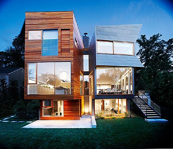 Zink och Cedar Cladding För Green Contemporary Home i Connecticut