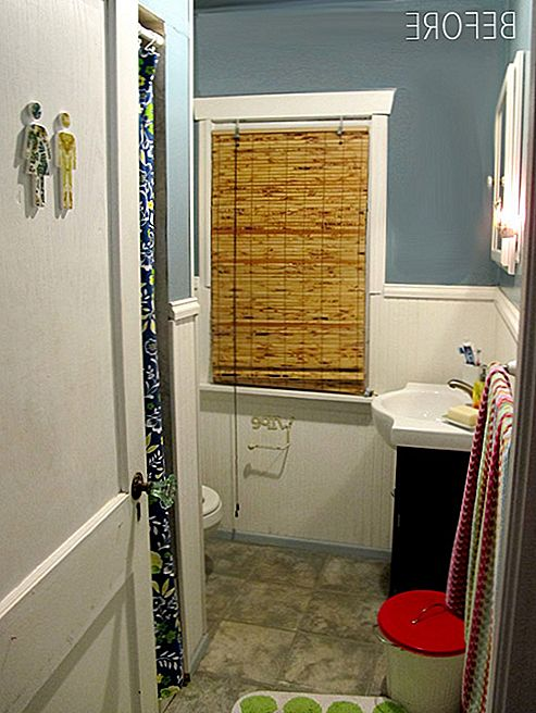 Before & After Salvage-Inspired Bathrooms Makeover