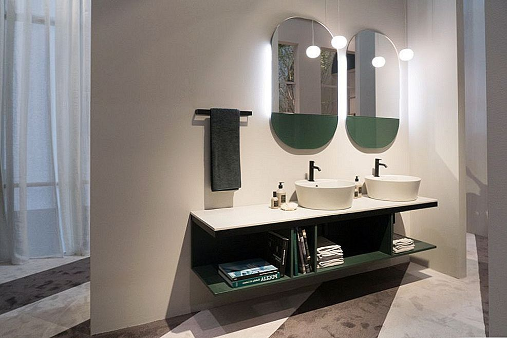 Great Double Sink Vanity Ideas para banheiros compartilhados