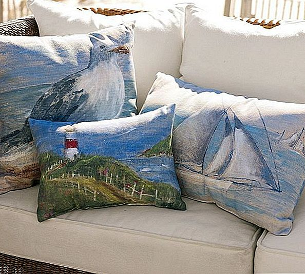 Inspiring Painted Coastal Life Outdoor Pads