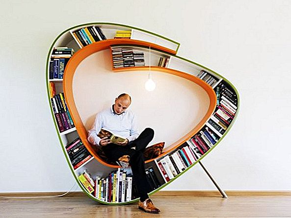 The Bookworm Bookcase, An Unconventional Alternative voor Reading Nooks