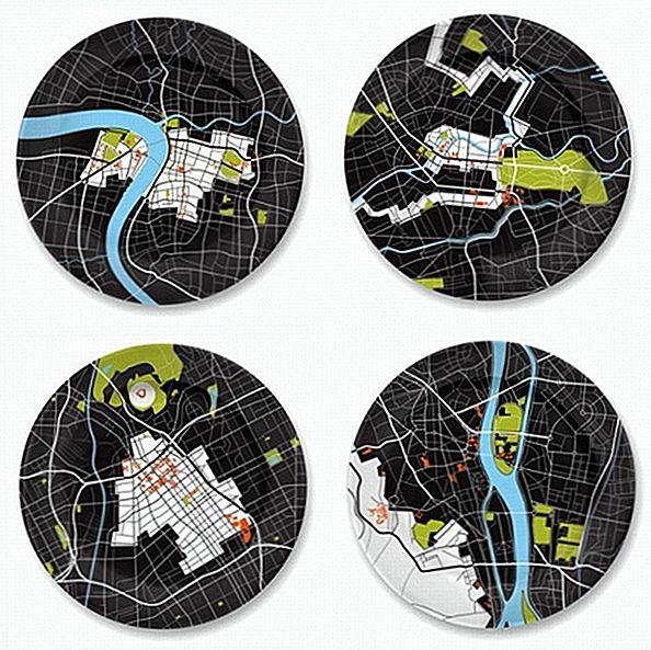 Fantastisk designidee for gourmandene: City on a Plate Collection