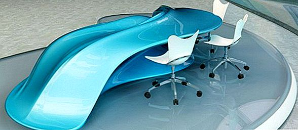 Amazing Flowing Design Table av Nuvist Architecture & Design