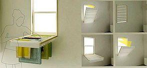 Paverskite savo lango aklą į sulankstomą skalbinių dėžę