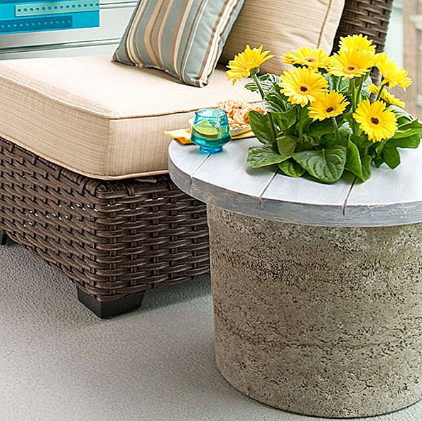 DIY Hypertufa Outdoor tabel