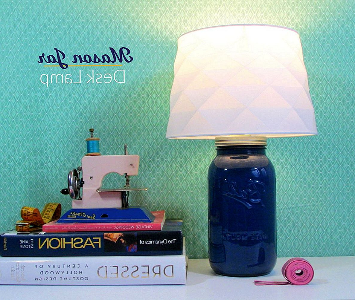 DIY Mason Jar bureaulamp