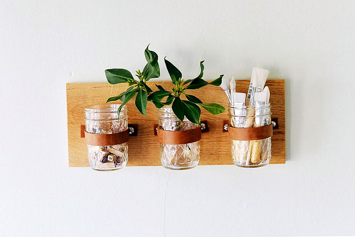 DIY Mason Jar Wall Organizatorius