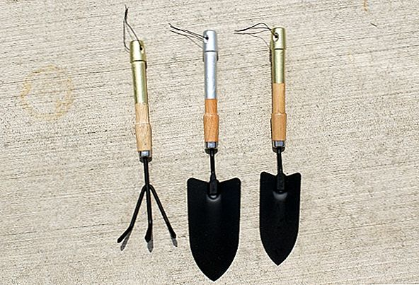 DIY Metallic Steel Garden Tools