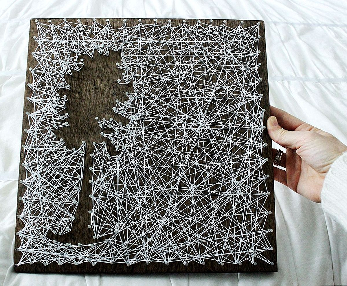 DIY Personalized String Art - Tree