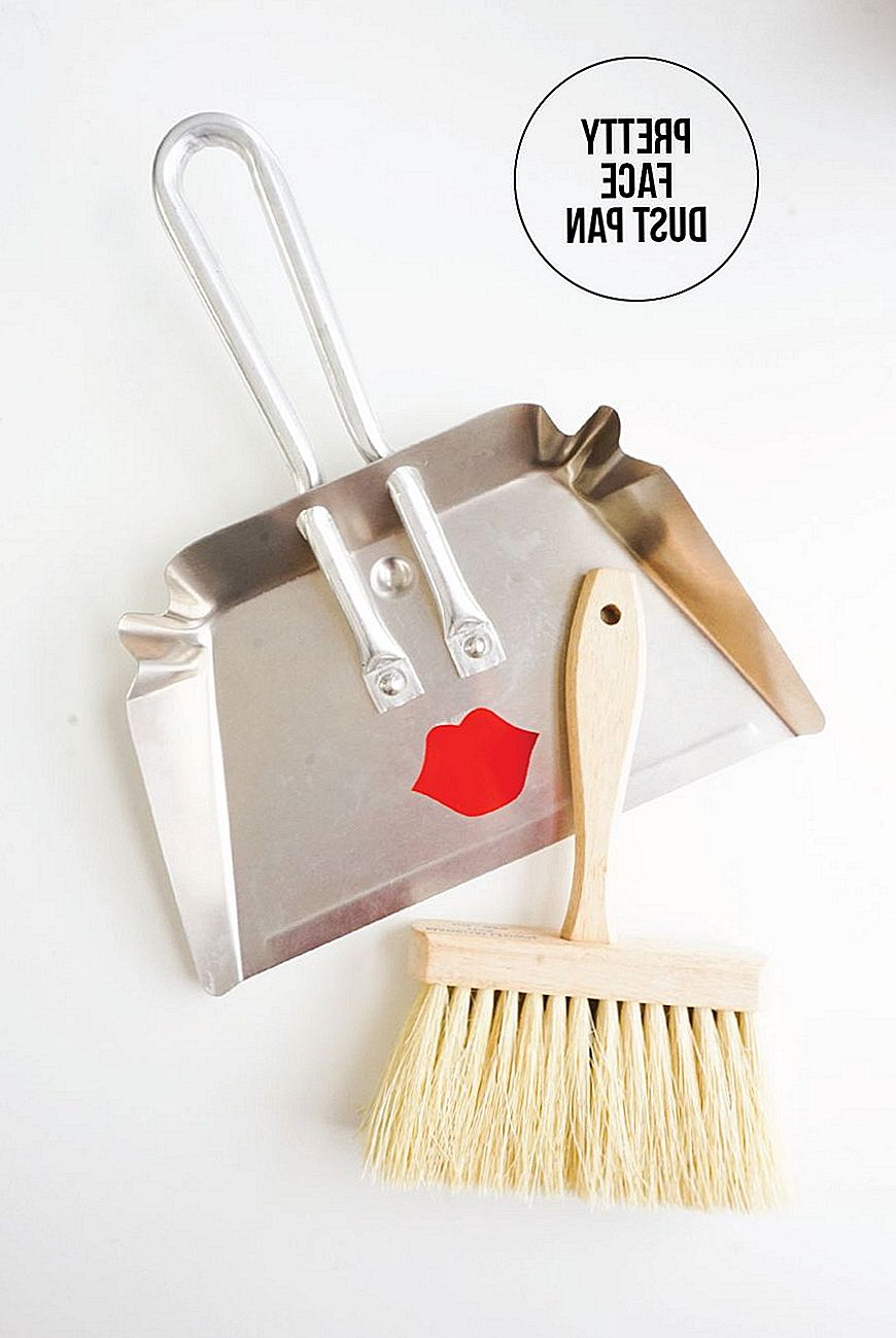 Pretty and Easy Face Dustpan DIY