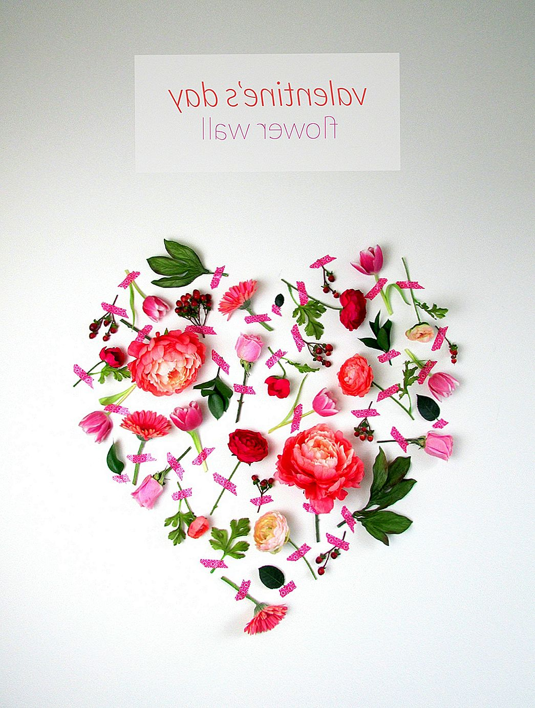 Valentijnsdag Flower Wall Art