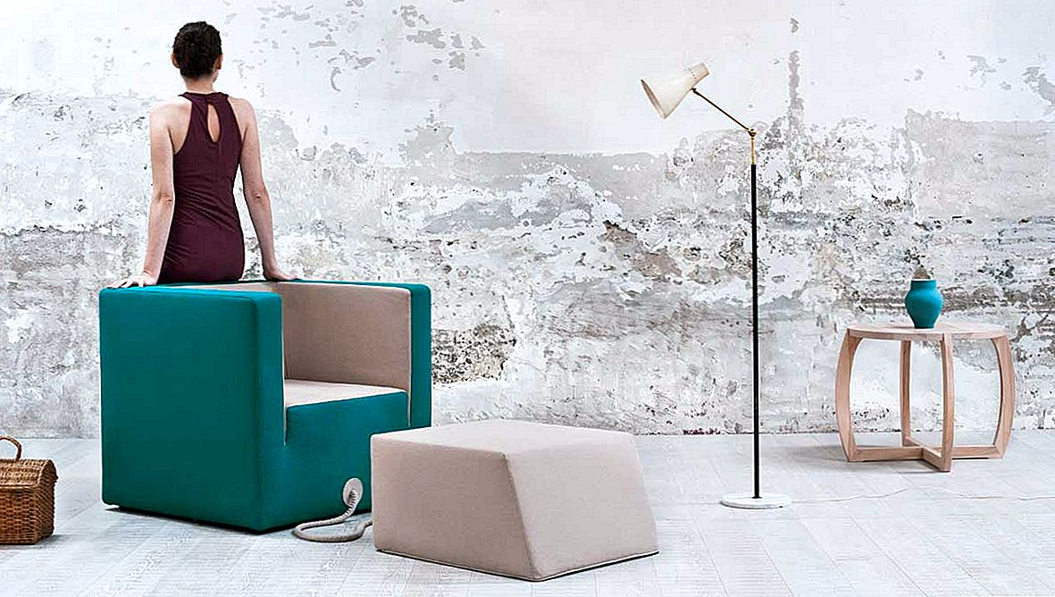 Rattaga ühendatud tugitool: Decube Furniture Project