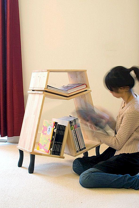 IKEA standaardmeubilair veranderd in originele boekenplanken van Kenyon Yeh