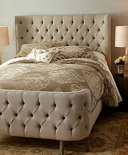 Cream Tufted Lin Larkspur Bed