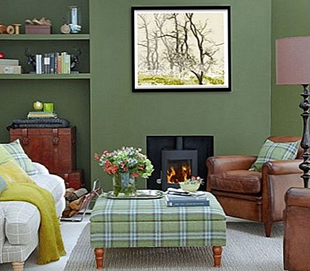 """Hunter Green Living Room"" dekoravimas"