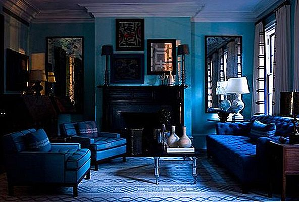 Ondergedompeld in Blueberry: Monochromatic Rooms