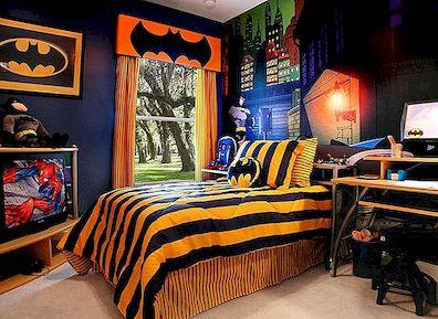 Batmani voodilinad ja magamistoaga sisekujunduse ideed oma väikeste superkoerate jaoks