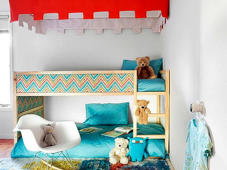 Kids-friendly DIYs ar IKEA Kura Bed