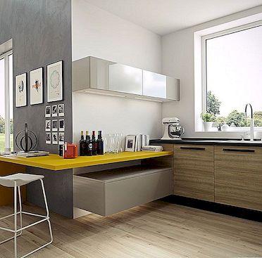 20 skaisti piemēri koka lamināta grīdas jūsu virtuvei!