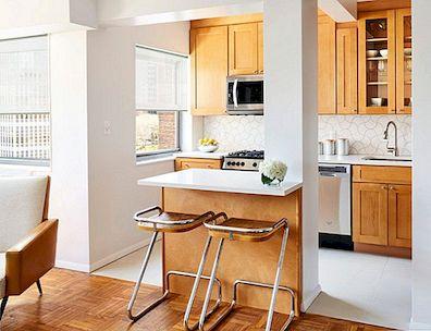 Keuken Moderne Klein : Mid century moderne kleine keuken ontwerpideeën die u wilt stelen