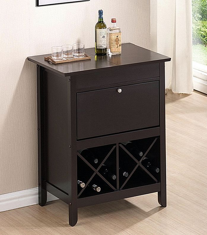Baxton Studio Tuscany Brown Modern Dry Bar och Wine Cabinet