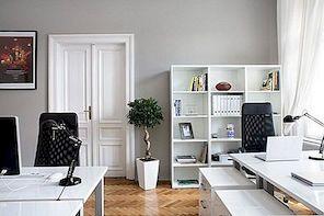 Mustvalge büroo kaunistamine: ideed ja inspiratsioon