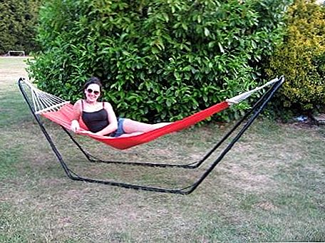 """Ultracamp Large Coral Swinging Hammock With Frame"""