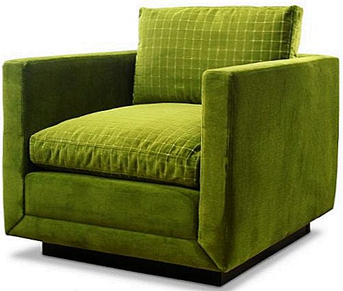 Simples e Casual Cor Verde Blakeley Chair